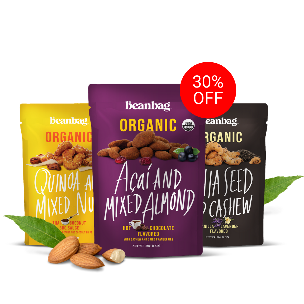 30% off on Beanbag Snacks from Wellness Nutrition Company